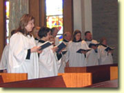 The St. Paul's Church Choir performing at a service